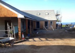 New showers under construction Trevedra Farm