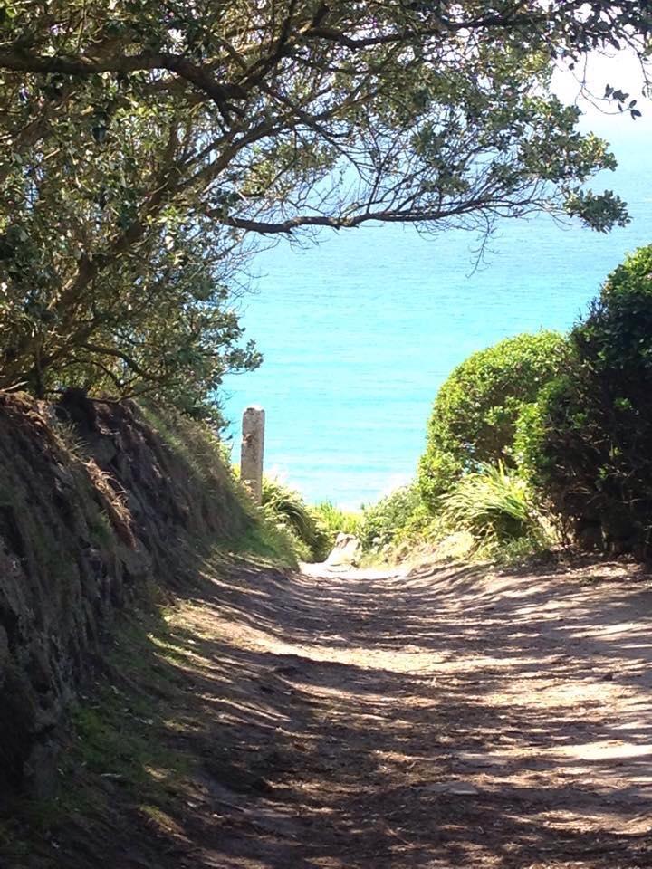 Walk to the beach from Trevedra Farm