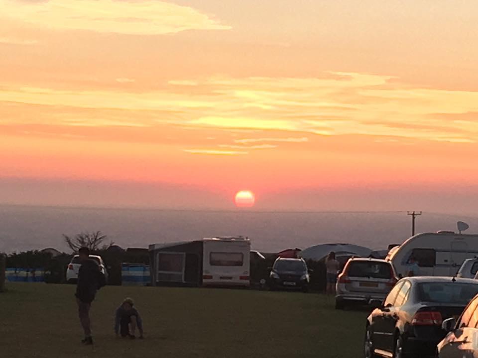 Sunset at Trevedra Farm Campsite
