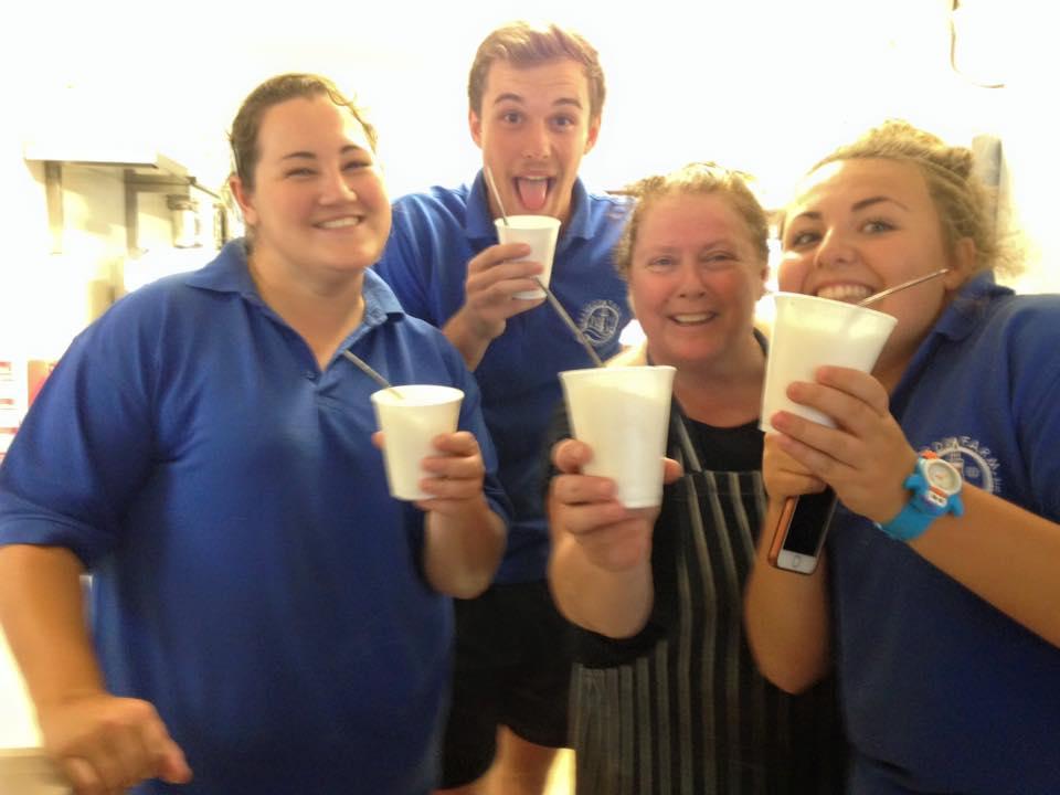 Happy Staff at Trevedra Farm Cornwall